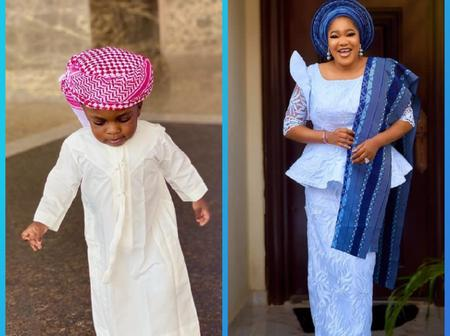 Fans React As Nollywood Actress, Toyin Abraham Shares Lovely Photo Of Son