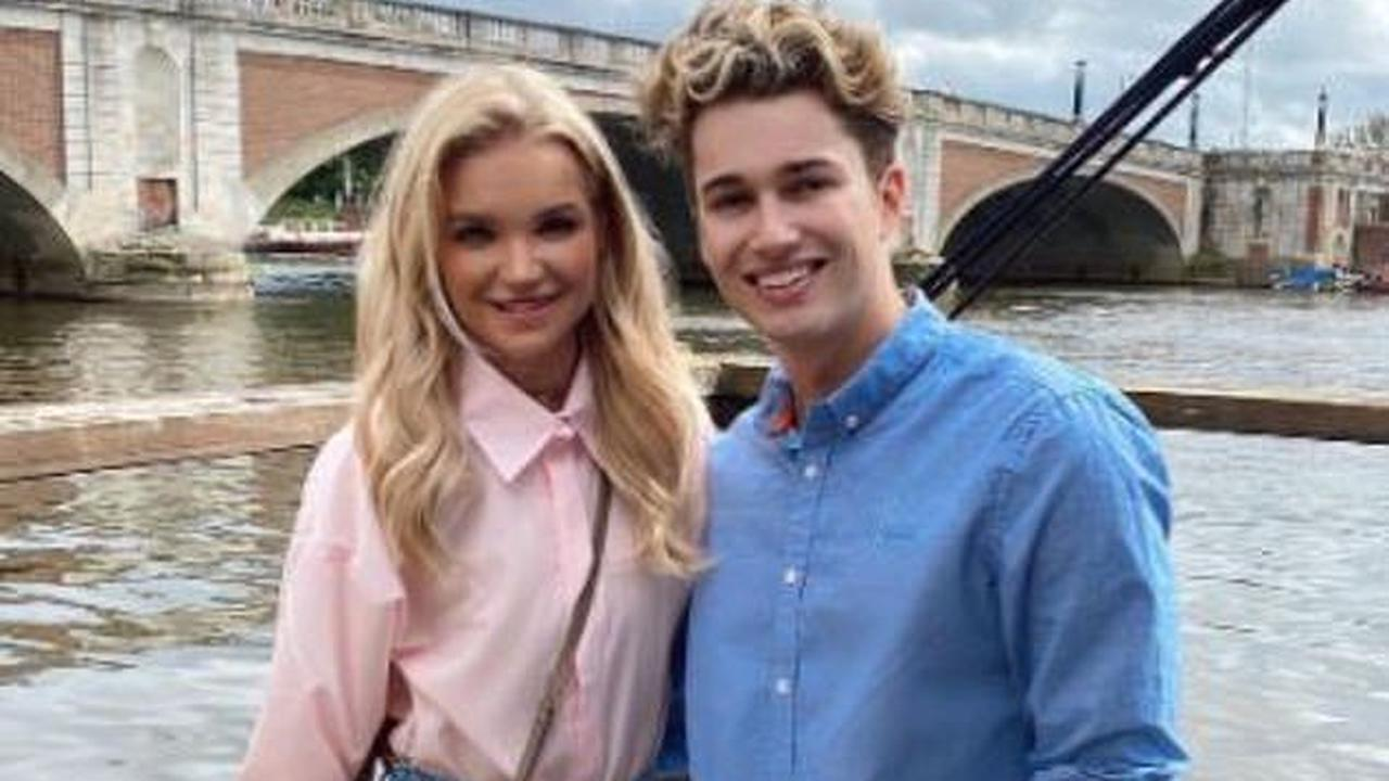 'You have been so strong': AJ Pritchard praises girlfriend Abbie Quinnen as he helps her celebrate 24th birthday on lunch date - after detailing freak fire that left her with third degree burns