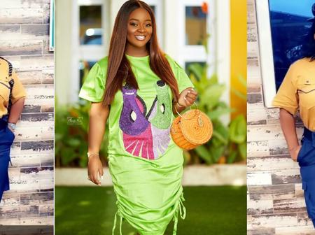 Jackie Appiah stirs the internet as she beautifully poses as security in new photos and video
