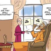 Mustapha Bulama Releases Cartoon On London Protesters