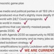 Under Julius Malema's post,new virus coming, death is still coming till 2030.