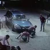 Armed robbery caught on camera.