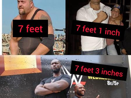 How Can A Human Be This Tall?, Meet The Lagos Born WWE Champion Taller Than Big Show And Great Khali