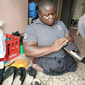 Check out 38 Year Old Disabled Man Who Manufactures Very Fine Shoes (Photos)