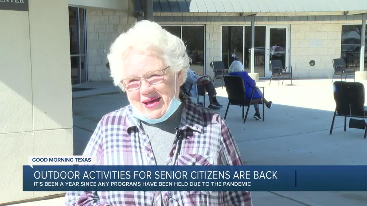 Outdoor activities start back up for Brazos senior citizens
