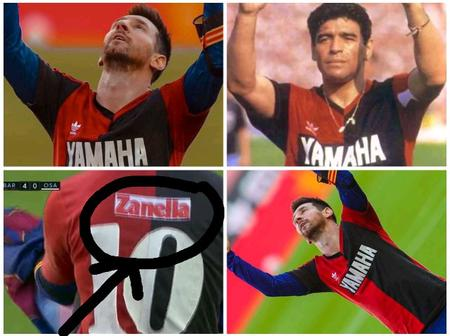 After Messi Scored Against Osasuna, See What He Did To Honour Late Maradona (Photos)