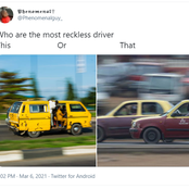 Nigerians Debate Who Drives More Recklessly Between Lagos 'Danfo' And Ibadan 'Micra' Drivers