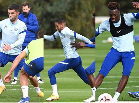 See Photos As Chelsea Players Return To Training Today, Pulisic, Ziyech And More In Action