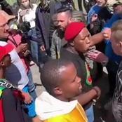 Brackenfell residents and EFF protestors violently clashed outside Brackenfell High School