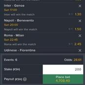 Today's Sure Predictions for Italian Serie-A Matches to Win you Big