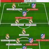 Real Madrid will play Against Athletico Madrid, Checkout Their Combined Xi
