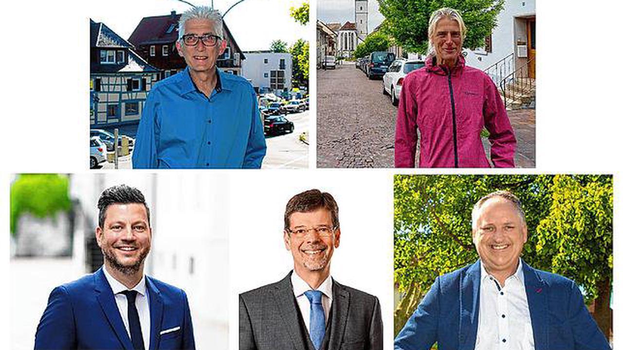 Markdorf: Die fünf Kandidaten für die Bürgermeisterwahl im Video: Das sind ihre Ziele für die Stadt Markdorf