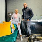 Fans gush over Somizi's elegant oufit in his latest post coming out of a meeting.