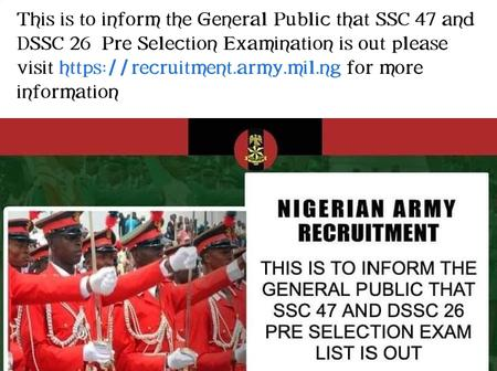 Army Recruitment Update: Pre-Selection Examination List Is Out. Checkout How To Check Yours.