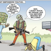 See Reaction Over This Cartoon Flakes Which Talks About Bandits And Yahoo Boy