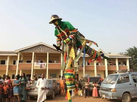 Check out the tallest masquerade in Igbo land