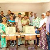 Local Government Chairman Donates Sewing Machines to a Correctional Center