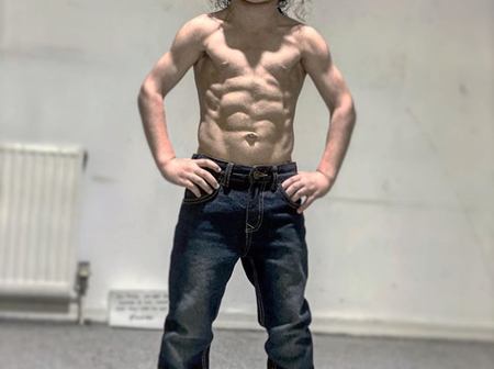 Blessed In Nature, See Photos Of A 6-Years-Old Kid With Crazy Six Packs