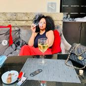 Boity Thulo's mother left people gushing over her recent pictures smoking a Cigar.