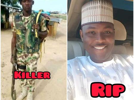 The Nigerian Soldier Sentenced To Death By Firing Squad, See Photos Of The Senior Officer He Killed