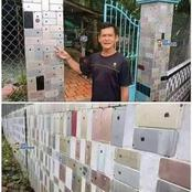 Do You Remember The Man Who Used iPhone 6 To Cover The Walls Of His House? See Details and Video