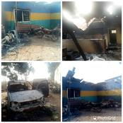 Photos From The Recently Burnt Police Station In Ebonyi State