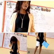 Drama as lady tries to cheat in front of her lecturer while she was trying to defend her project