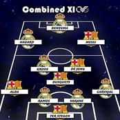 Real Madrid And Barcelona Combined; See The Selected Best Eleven Players Ever.