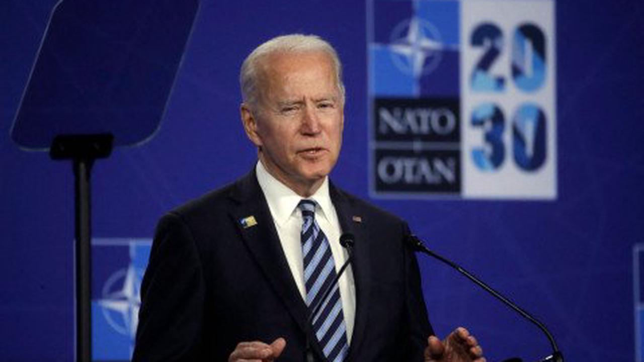 Joe Biden laughs when asked if he still thinks Vladimir Putin is a killer