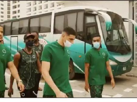 Super Eagles Walk Magistically To Teslim Balogun Stadium To Play Against Lesotho, See Their Outfits