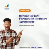 All Nigerian Farmers/Entrepreneurs should take note of this Agricultural Entrepreneurship Grant 2021