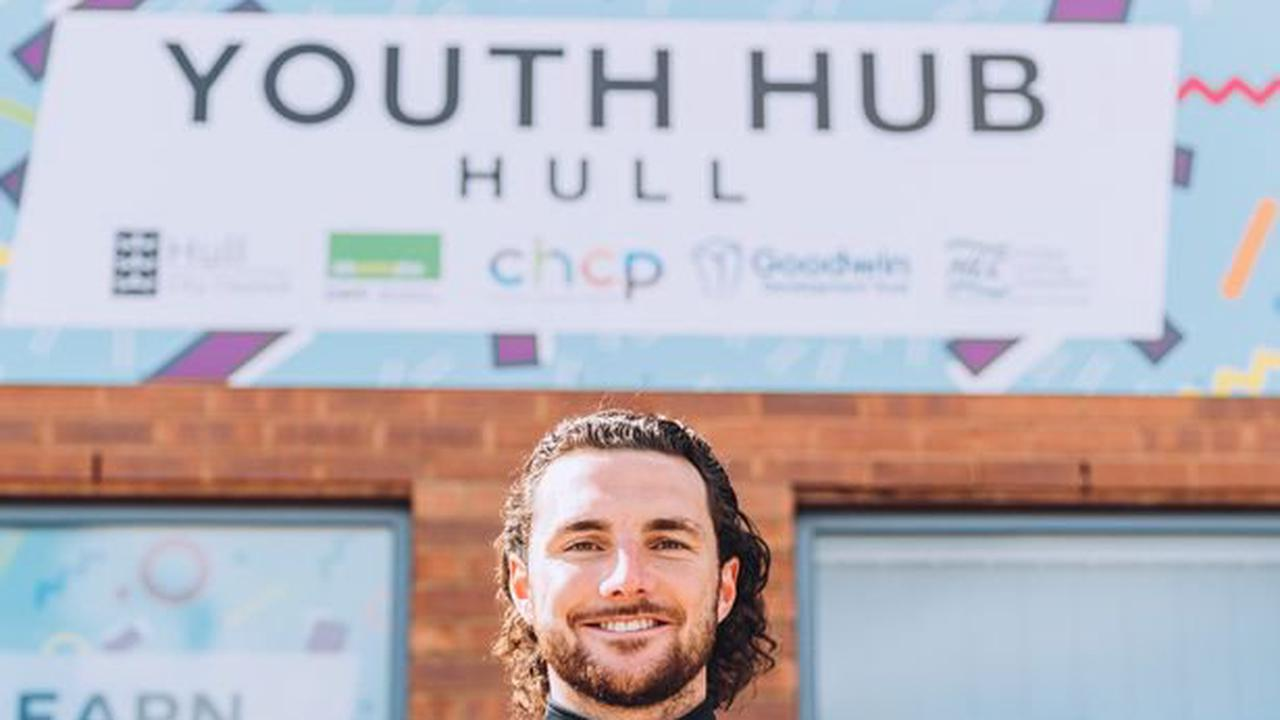Hull City star Lewie Coyle helps launch new Youth Hub Hull