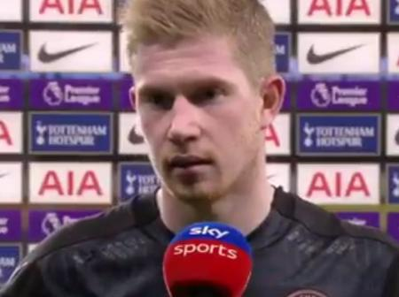 See what Kevin De Bruyne said about VAR after his team lost in a controversial fashion to Tottenham