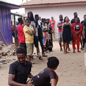 (Photos) see the way the ladies and gentlemen at Nkawie paid their last respect to their sister.