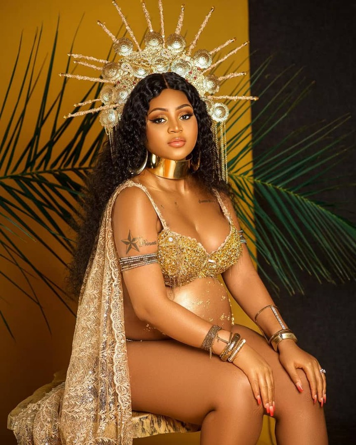 New mum, Regina Daniels shares more beautiful photos from her maternity shoot