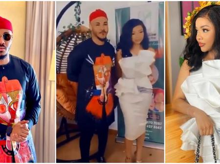 Mixed reactions from Fans as BBNaija's Nengi and Ozo fold hands behind them while taking photos