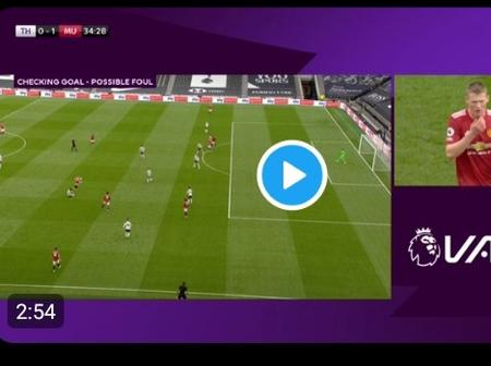 Netizens React to This Unjust Act by VAR to Man United After They Won 3-1 Against Tottenham Hotspur