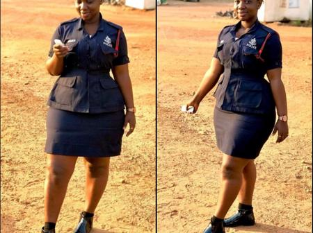 See Funny Reactions To The Photos Of A Ghanaian Policewoman