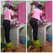 Unacheza Na Kifo! Kenyans React After These Photos Of a Lady Risking It All Go Viral