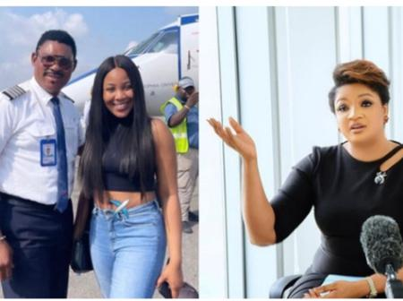 Checkout Omotola's Reaction After Her Husband, Capt Ekeinde Poses With Erica In Recent Photos