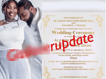 Singer Harrysong and his fiancée, Alexer Peres, tie the knot[See photos]