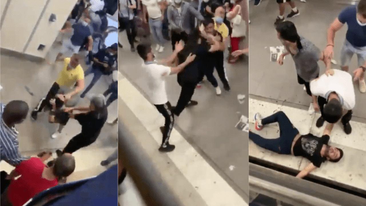 Paris : Un affrontement sanglant dans la Gare de Lyon au milieu des passagers. ATTENTION, vidéo très violente