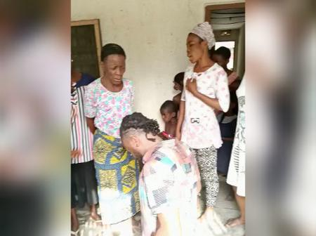 Man gathers women from his community to pray over his bet (Video)