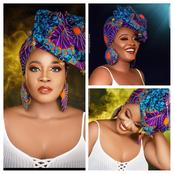 Check out stunning photos of BBN Lucy on Ankara gele that shows her beauty to the fullest