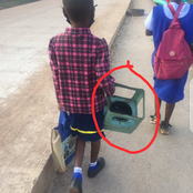 See What This Child Took To Her School This Morning (Photos Inside)