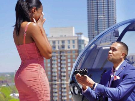 American man proposes to his girlfriend with 5 different and beautiful diamond rings to choose from