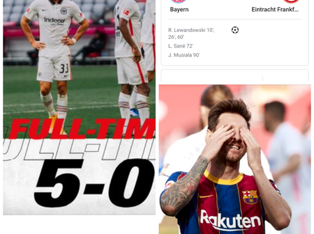 After Being Thrashed 5-0 By Bayern, See What Frankfurt Said About Barcelona That Made People Laugh
