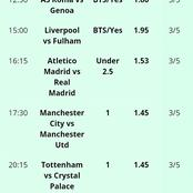 Best of seven(7) Correctly Fixed Multibets To Bank On Tonight For Massive Returns