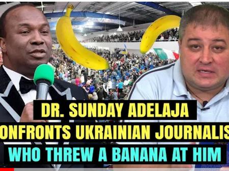 Dr. Sunday Adelaja Confronts Ukrainian Journalist Who Threw A Banana At Him