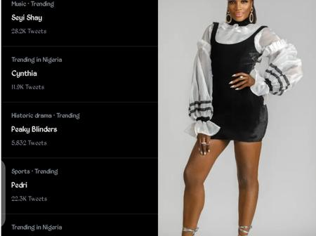 Seyi shay is currently trending on twitter, see why and her reaction that got people talking